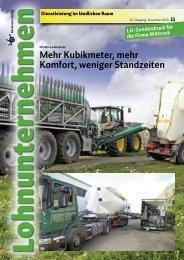 Kubikmeter, mehr Komfort, weniger Standzeiten - Hans Wittrock GmbH
