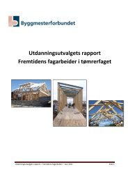 Utdanningsutvalgets rapport Fremtidens fagarbeider i tømrerfaget