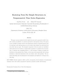 Bootstrap Tests For Simple Structures in Nonparametric Time Series ...