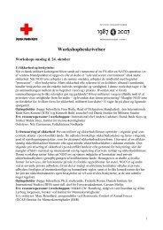 Workshopbeskrivelser - Institut for Menneskerettigheder