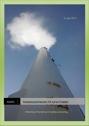 Varmegenvinding på asfaltfabrik.pdf - Aarhus Maskinmesterskole ...