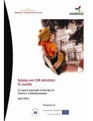 Katalog over CSR værktøjer - Samfundsansvar