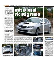 Testbericht Impreza 2.0D - AutoBild allrad Nr.1-2009 - Subaru