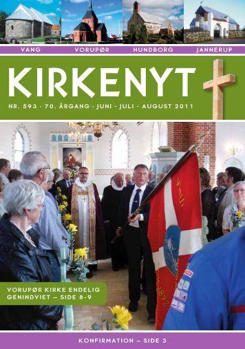 Kirkeblad 593 Maj - August 2011 - Hundborg kirke