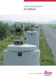 Leica Geosystems Zertifikate