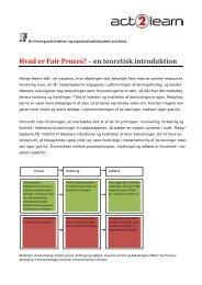 Hvad er Fair Proces? – en teoretisk introduktion
