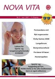 Nova Vita 2007-2 - Hjerte- og Lungetransplantationsklubben