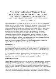 sejlbare søer og vandløb i jylland, som vi kender dem, samt nogle ...