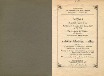 Auktionen antikke Møbler, Indbo,
