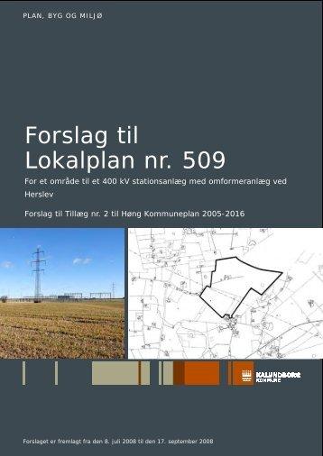 Forslag til Lokalplan nr. 509