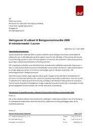 DSFs høringssvar til Bologna-kommunikéet 060309 - Danske ...