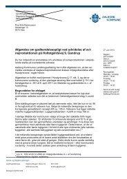 Afgørelse om godkendelsespligt ved udvidelse ag ...