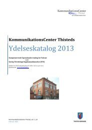 1.13 Ydelseskatalog feb. 2013 - KommunikationsCenter Thisted