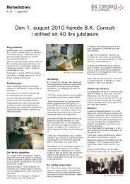 Nyhedsbrev nr 34 juli 2010.pub - B. K. Consult ApS