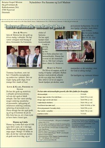 Susanne og Leif Internationale medarbejdere - New Life Africa ...