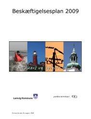 Beskæftigelsesplan 2009 - Lemvig Kommune