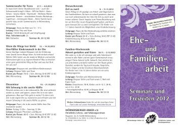 Ehe- Familien- arbeit - Wörnersberger Anker