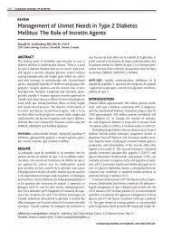 Management of Unmet Needs in Type 2 Diabetes Mellitus: The Role ...