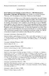 KURZMITTEILUNGEN Erste Nachweise der Gattung Ascogaster ...