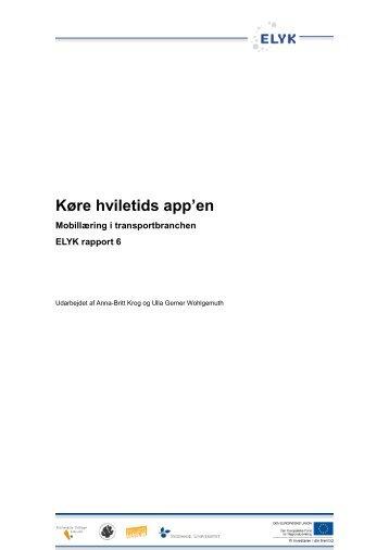 Køre hviletids app'en - Om ELYK projektet