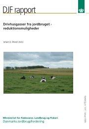 Drivhusgasser fra jordbruget - reduktionsmuligheder