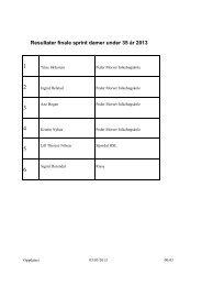 Resultater PMF lekene sprint og stafetter lørdag 2. mars