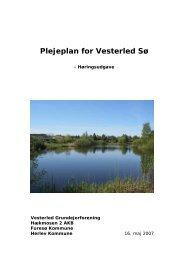 Plejeplan for Vesterled Sø - Herlev Kommune
