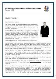 Nyhedsbrev fra Herlufsholm Alumni