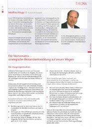 Die Wohnmatrix - strategische ... - Analyse & Konzepte