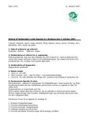 2007 10 04 Referat af fællesmøde - Grøn Guide i Gladsaxe
