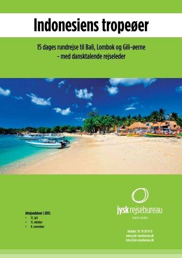 Indonesiens tropeøer - Jysk Rejsebureau