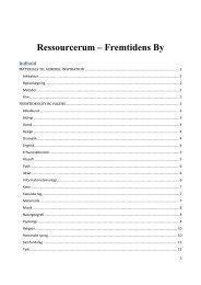 Ressourcerum – Fremtidens By