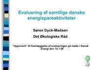Evaluering af samtlige danske energispareaktiviteter
