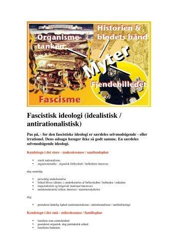 Fascistisk ideologi (idealistisk / antirationalistisk)