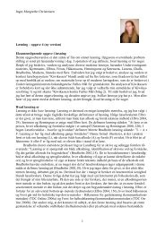 Inger-Margrethe Christensen 1 Læsning – opgave 4 ... - Carlo Grevy