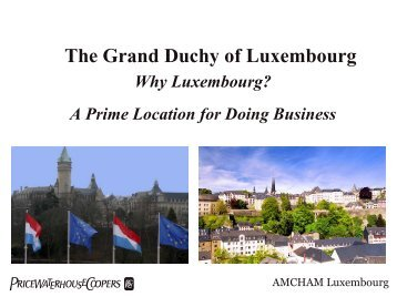 A presentation of the Luxembourg economy by the American ... - icann