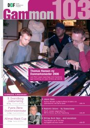 GAMMON nr. 103, December 2005 - Dansk Backgammon Forbund