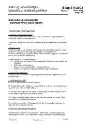Kultur- og Serviceudvalgets behandling af landdistriktspolitikken ...