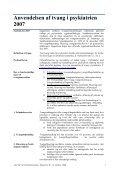 Anvendelsen af tvang i psykiatrien 2007 - Region Midtjylland - Page 4