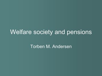Welfare society and pensions