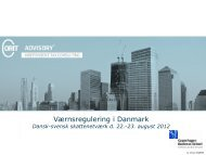 Dansk-svensk skattenetværk, 2012 - Corit Advisory