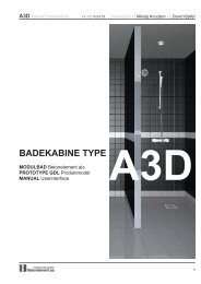 Manual til modulbad type A3D - Produktkonfigurering i byggeriet.