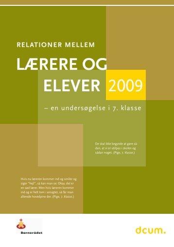 Relationer mellem Lærere og Elever 2009 - Børnerådet