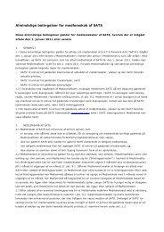 Almindelige betingelser for medlemskab af SATS