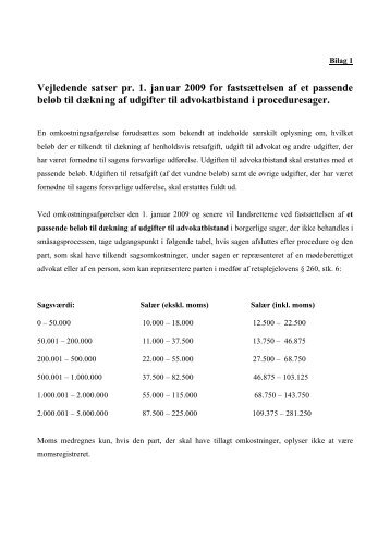 Læs proceduretakster - Danske Advokater