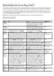 Rettelsesliste for Livets Bog, bind 2 (5. udgave 2012) - Martinus Institut