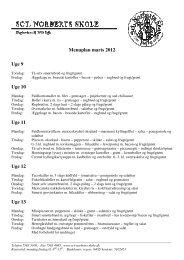 Menuplan marts 2012 Uge 9 Uge 10 Uge 11 Uge 12 Uge 13