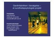 et sundhedspsykologisk projekt - Kunst.dk