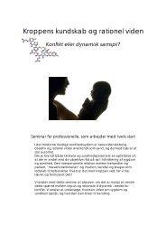 Kroppens kundskab og rationel viden - konflikt eller ... - Enatal