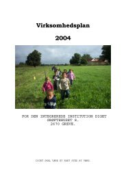 Virksomhedsplan 2004 - Greve Kommune
